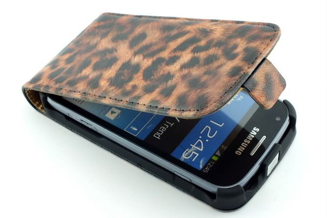 Pantera Leather Case for Galaxy Trend Plus