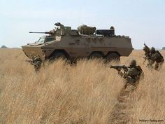 South African Ratel IFV in action