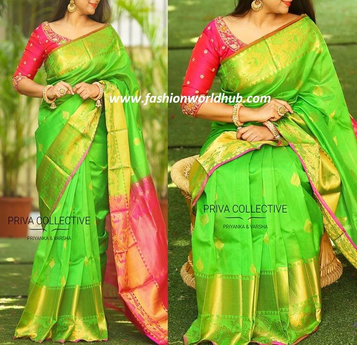 Current craze and trend is kuppadam pattu sarees and the