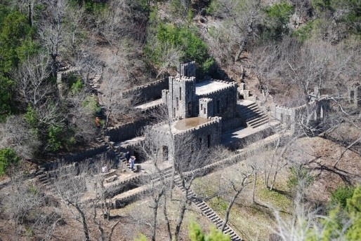 Collings Castle in Turner Falls Park in Davis, Oklahoma, an adventurous and family-friendly annual destination nestled in the Arbuckle Mountain