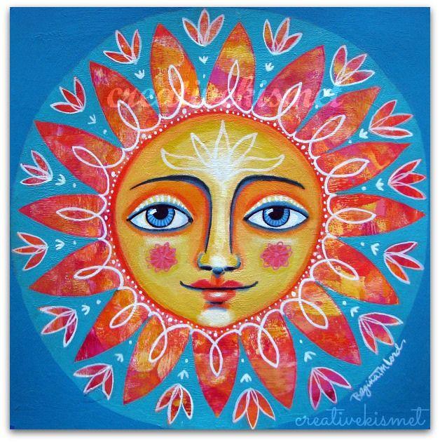 Mandala Sunshine by Regina Lord (creative kismet)