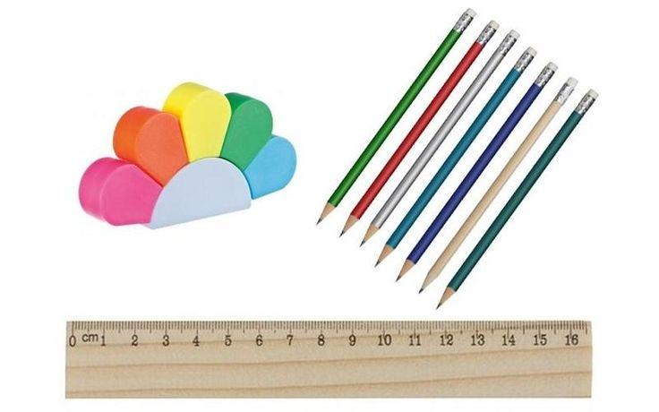 Ołówki, zakreślacze i linijki