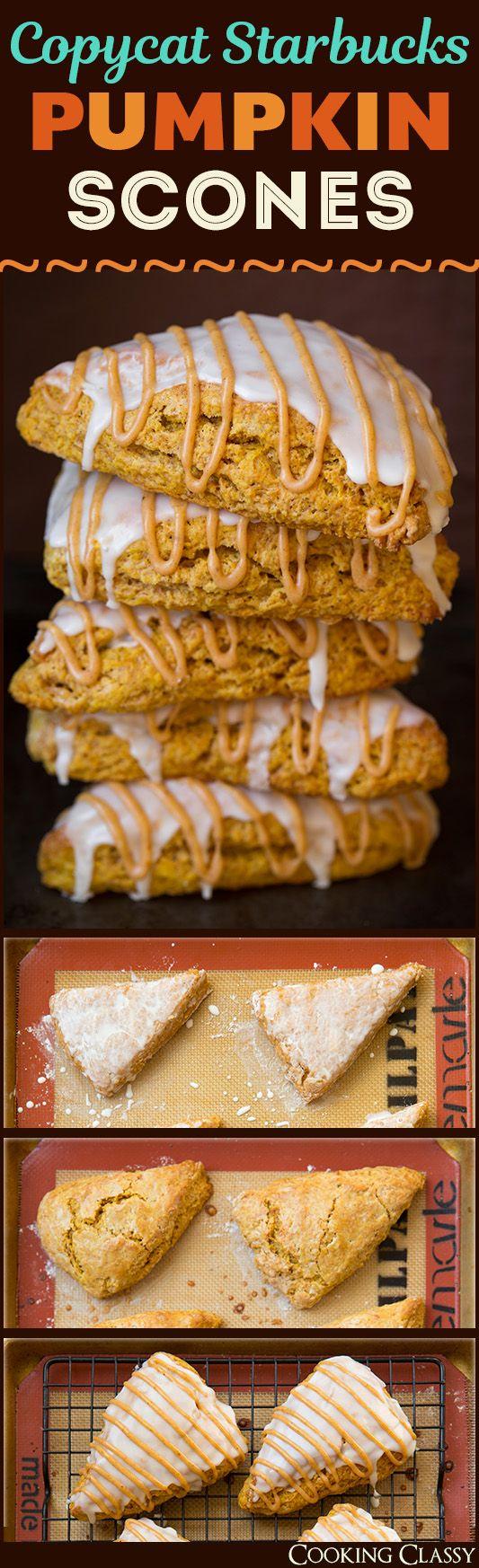 Pumpkin Scones {Starbucks Copycat} - Cooking Classy (Fun Fall Bake)