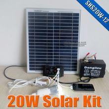 Sustentabilidade Energética Solar Termosolar e Eólica :  Mini Kit Solar de 20 W controlador e bateria 12 V...
