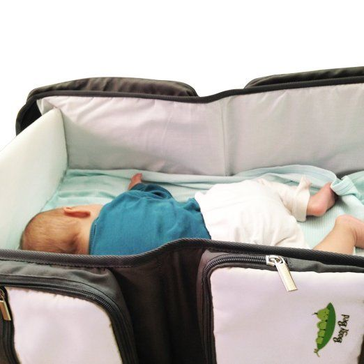 Amazon.com : Premium 3 in 1 Travel Bassinet - Diaper Bag & Portable Changing station, Easily Convertible, Top Quality Foldable Infant Bed & Cot : Baby