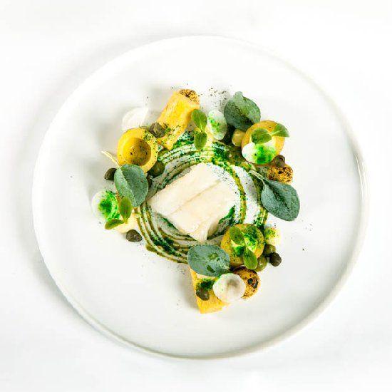 codfish ~ capers ~ potato (in german)