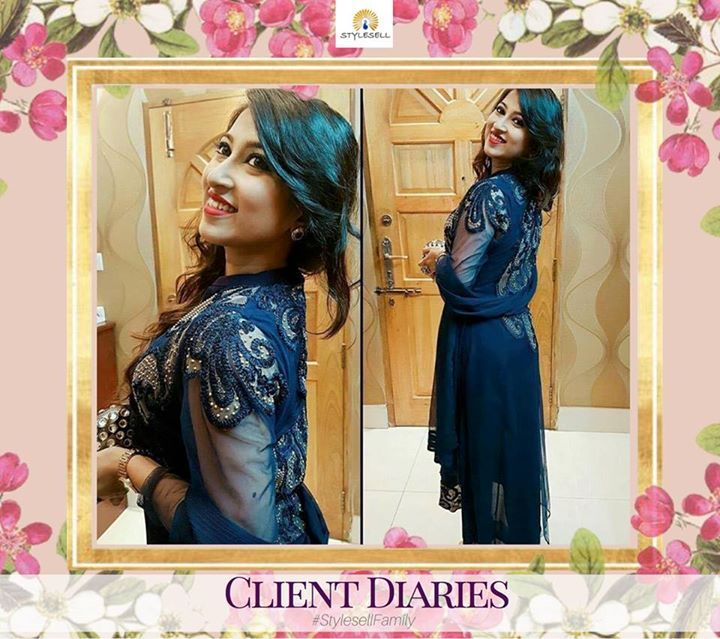 #StyleSellFamily #ClientDiaries - Get that perfect blend of traditional beauty with modern touch with your #StyleSell #Outfit. For pricing or order details, kindly send us a message in Facebook or visit our showroom.  Our Shop address: Showroom 1: South Avenue, Gulshan 1 (Just beside Gulshan 1 DCC Market on the main road). Showroom 2: Police Concord Plaza, Level 1, Shop no: 234, StyleSell. Helpline: 04478787877 Image may contain: 2 people #fashion #style #clothing