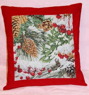 "Pillow fans: Подушка ""Замерзший лес"""