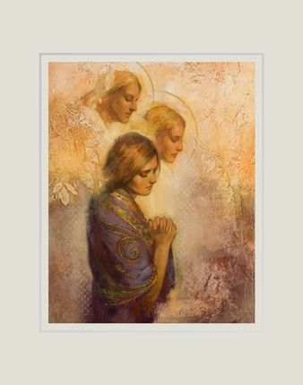 Luxury Angels Among Us 11x14 Matted Print Religious ArtReligious Review - Review religious paintings Model