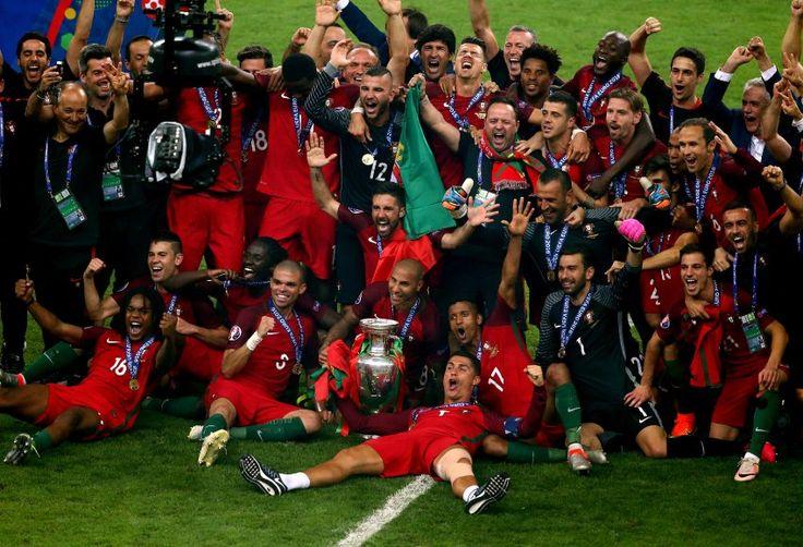 So jubelte Portugal am Ende über den historischen ersten EM-Titel !!