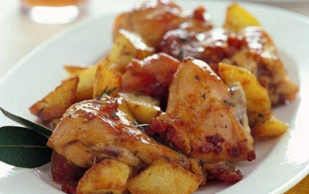 Κουνέλι λεμονάτο με πατάτες - iCookGreek