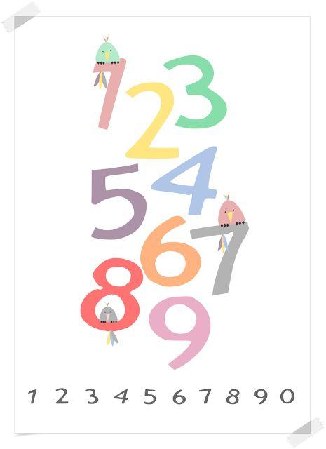 Plakat cyferki - DO POBRANIA | roballowa