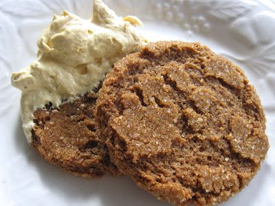 Pumpkin Fluff Dip & Gingersnaps from Blissful Roots