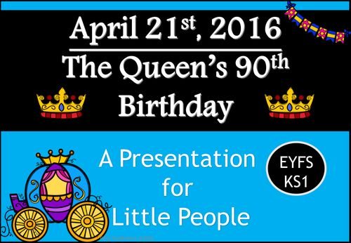 The Queen's 90th Birthday - A Presentation for Little People (EYFS/KS1)