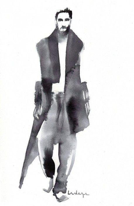 Fashion Illustration by Baiba Ladiga www.ladiga.co http://ladiga.tumblr.com INK/WATERCOLOR FASHION ILLUSTRATIONS