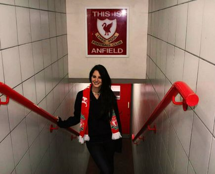 Lana Del Rey - An American singer-songwriter at Anfield today