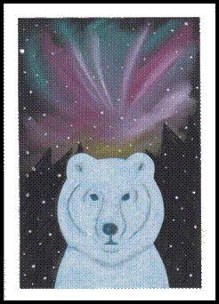 Lední medvěd a polární záře