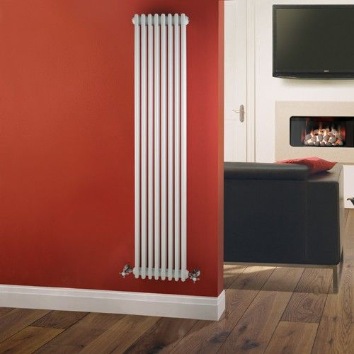 The 1800mm x 360mm vertical Milano Windsor Traditional White 3 Column Radiator makes great use of limited wall space.