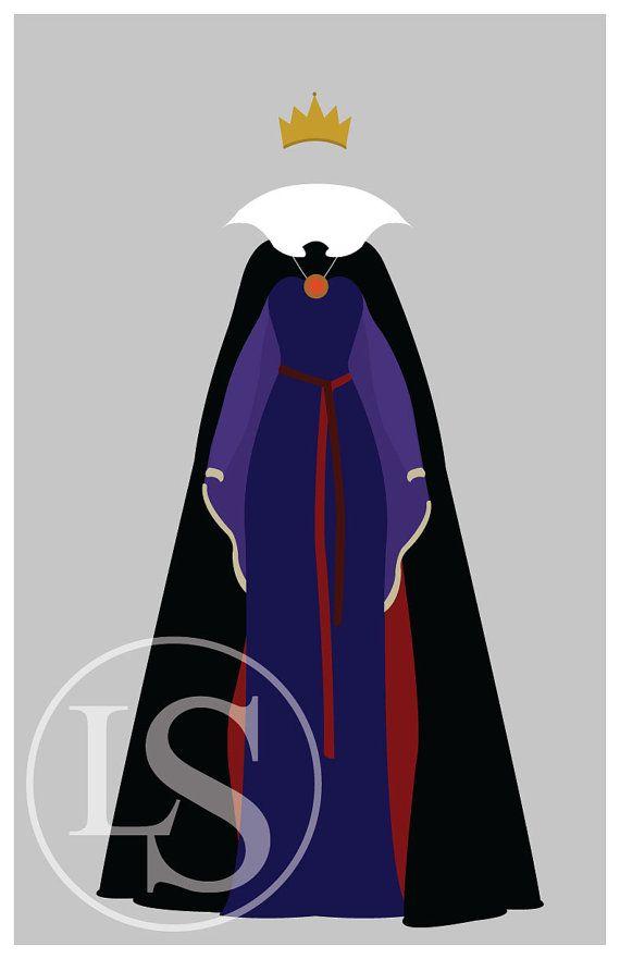 Disney Bösewicht die böse Königin Poster/Print von LauraStitesArt