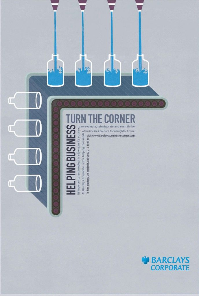 Advertising in the financial world - Barclays Corporate: Helping business turn the corner
