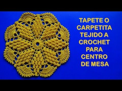Use Crocheting In A Sentence : Motivo tejido a crochet o ganchillo para centro de mesa y manteles ...