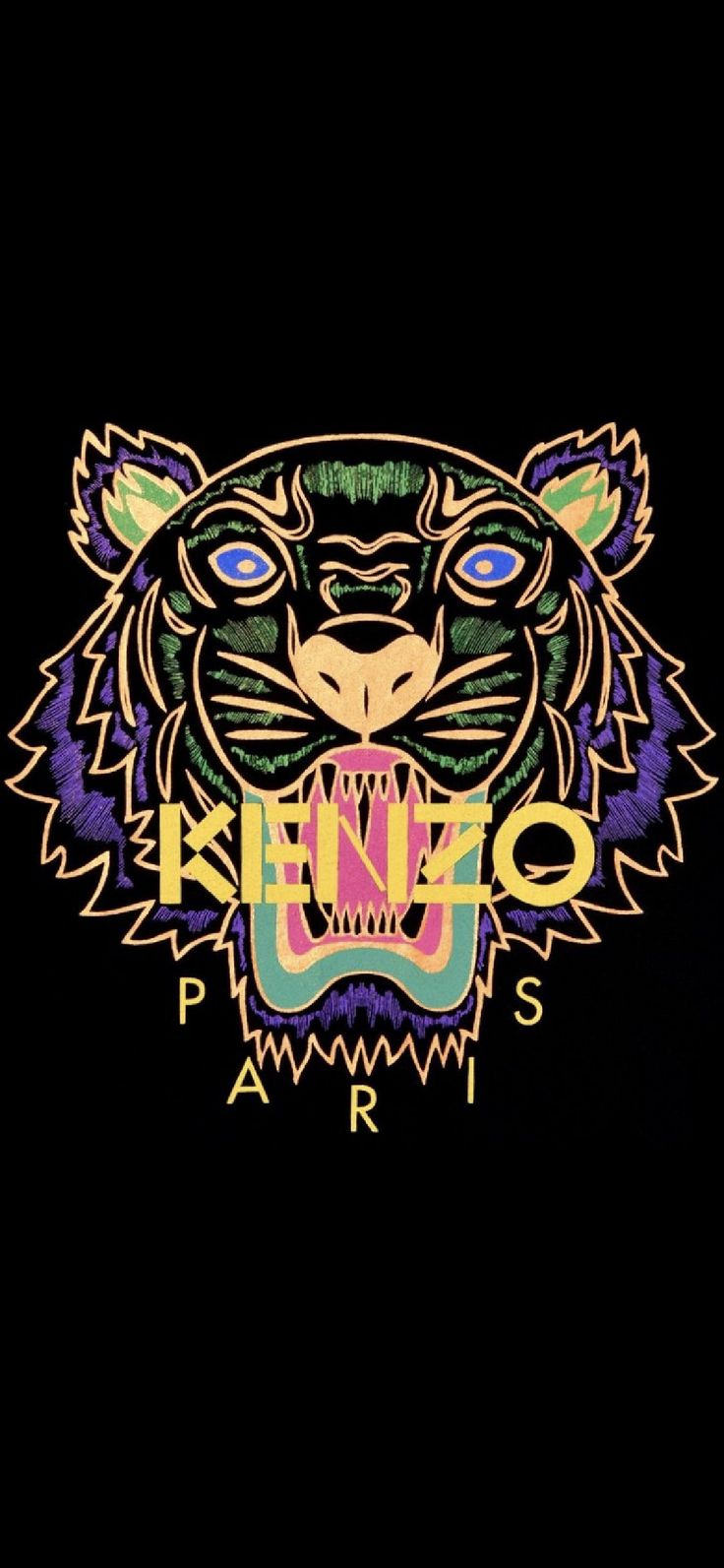 Kenzo Tiger iPhone wallpaper di 2020 Wallpaper ponsel