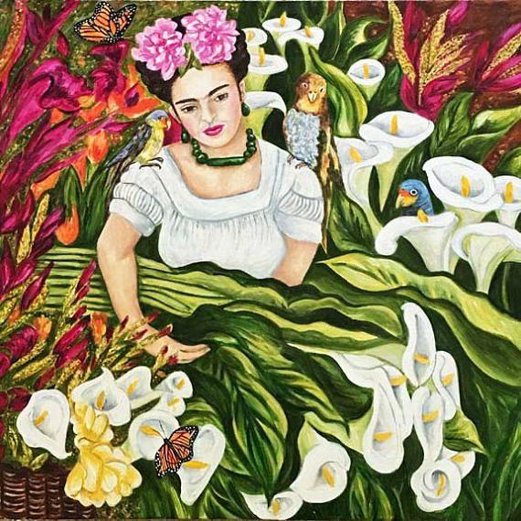 Frida Kahlo, Frida Kahlo Print, Frida, Calla Lilies, Cala Lily Print,  Wall art print, Home Decor