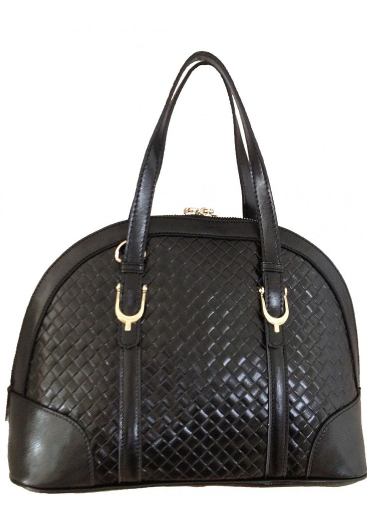 Aubree Bouillon -- Women's Black Leather Handbag