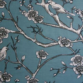 Aqua Print Vintage Blossom
