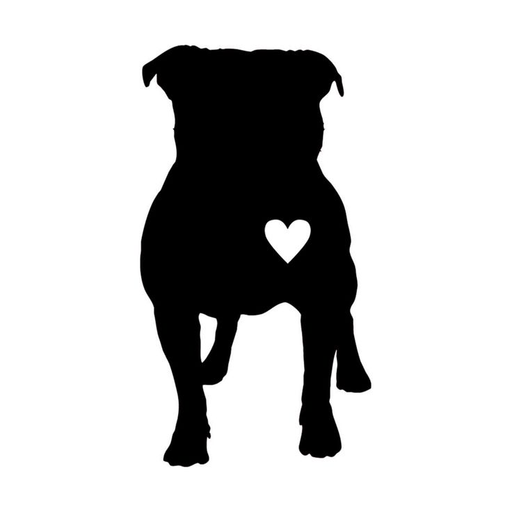 Pitbull Silhouette Google Search Sucker For Tattoos