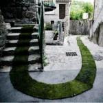 grassy path installation