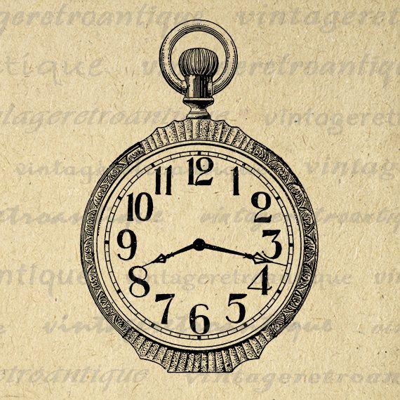 pocket watch clipart - photo #42