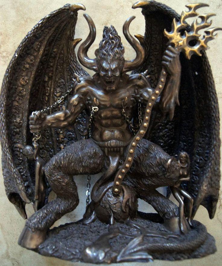 lucifer the medieval devil bronze statue dark art