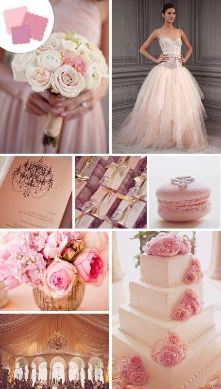 blush wedding color palettes dusty rose mauve peach. Black Bedroom Furniture Sets. Home Design Ideas