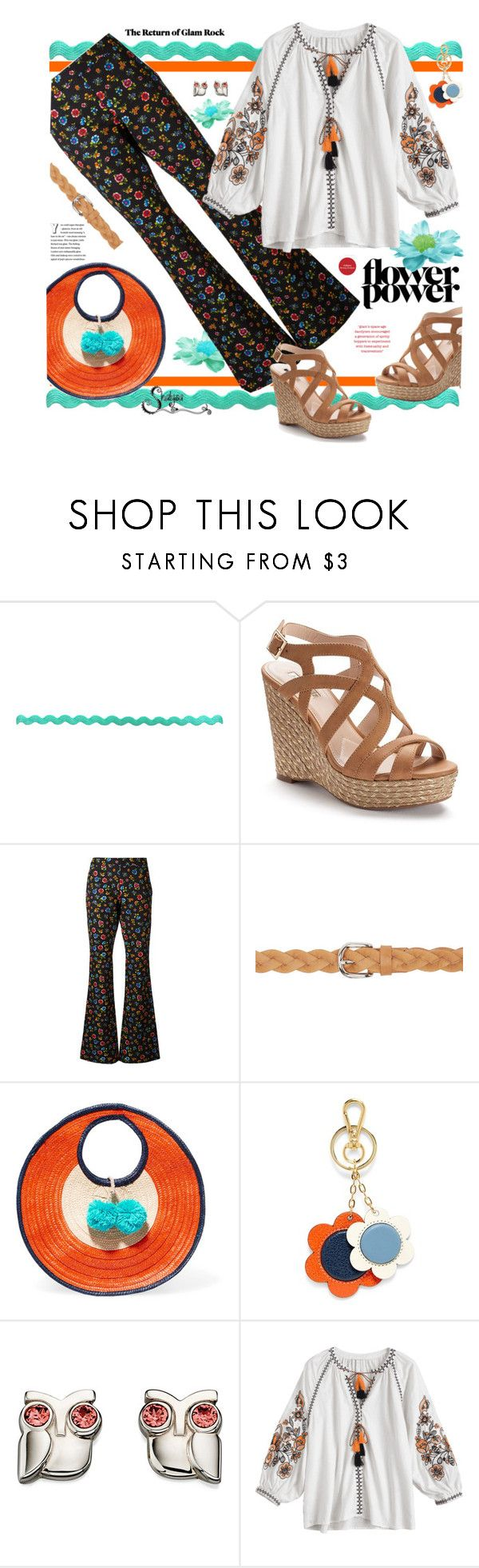 """""""Flower Power"""" by shalysa ❤ liked on Polyvore featuring Jennifer Lopez, Moschino, Isabel Marant, Sophie Anderson and Orla Kiely"""
