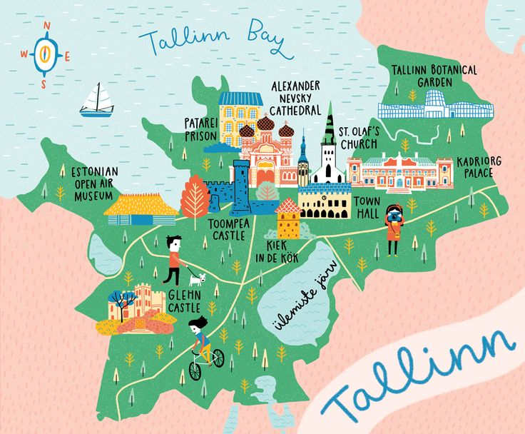 """Check out my @Behance project: """"Map of Tallinn"""" https://www.behance.net/gallery/48268129/Map-of-Tallinn"""