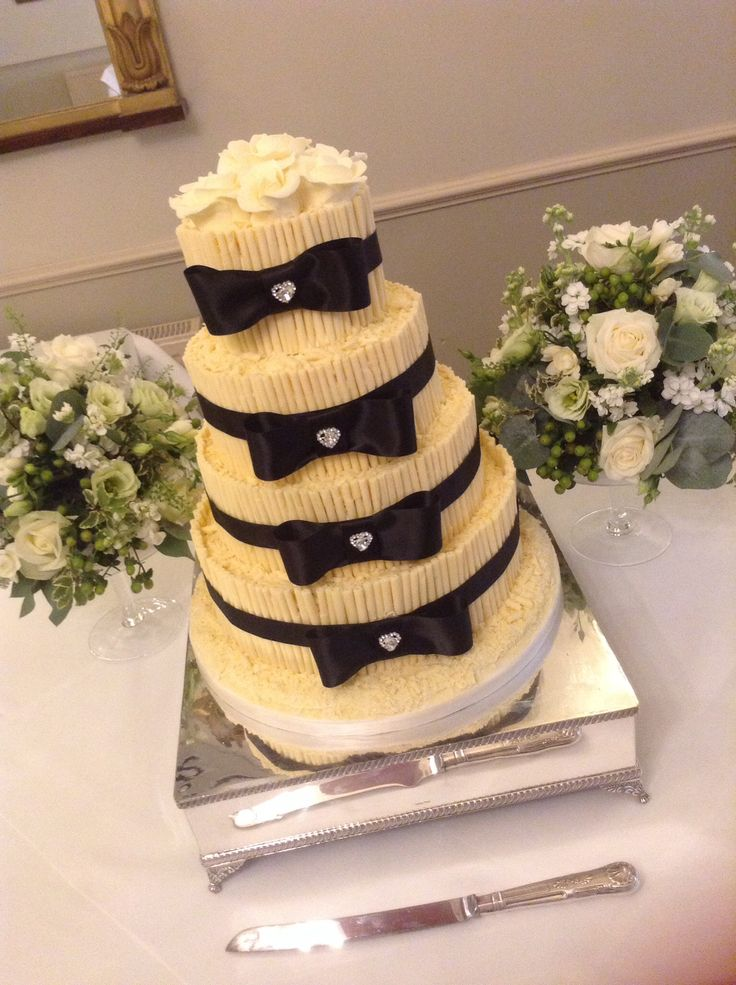 5 Tier James Bond Themed Black Tie Wedding Cake Www Coastcakes Bournemouth