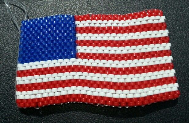 Boondoggle; flag; scoubidou;  plastic craft lace; rexlace; diy; gimp;