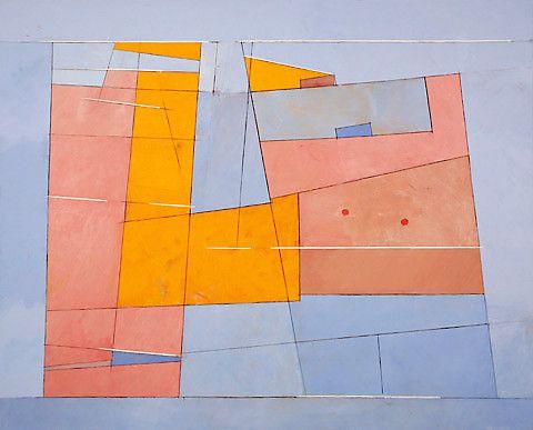 Irma Salo Jæger <em>Lyst i blått område</em><br />akryl og tempera på lerret, 162x200 cm