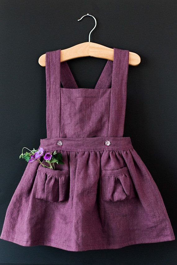 Items similar to Ayla Toddler Pinafore Dress - Vintage Girls Dress- 2T, 3T, 4T, 5T on Etsy