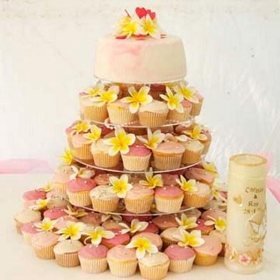 cupcake mariage il etait une fois...mon mariage - pièce montée