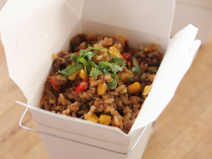 My husband practically cried tears of joy when I made this Tex-Mex Fried Rice recipe from Ree Drummond via Food Network