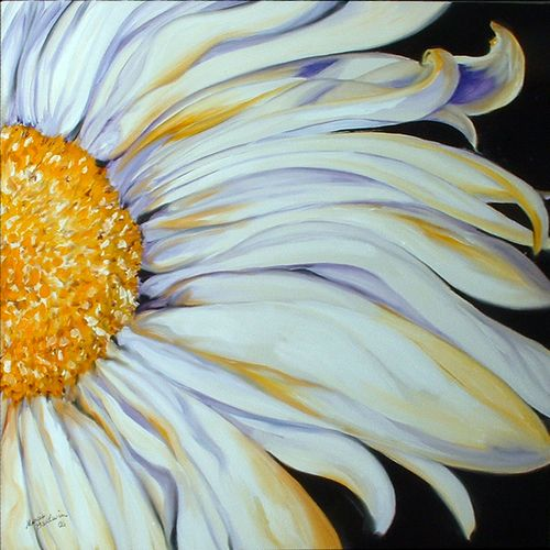 "Contemporary Painting - ""WHITE DAISY"" (Original Art from Marcia Baldwin)"