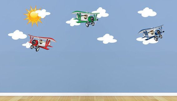 Airplanes wall stickers