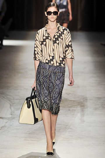 batik on the runway, Dries van Noten 2010 RTW