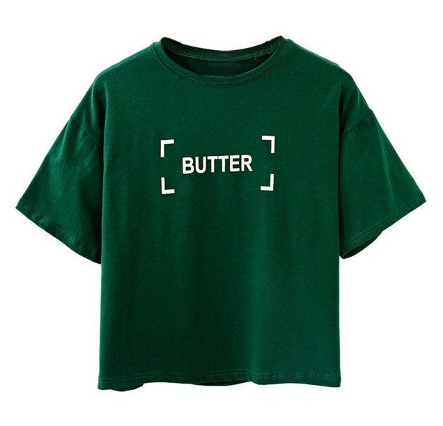 Designer Clothes Shoes Bags For Women Ssense Green T Shirt Png Greent Shirtpng Choies Dark Green Butter Print S Printed Shirts Dark Green Shirt Shirts