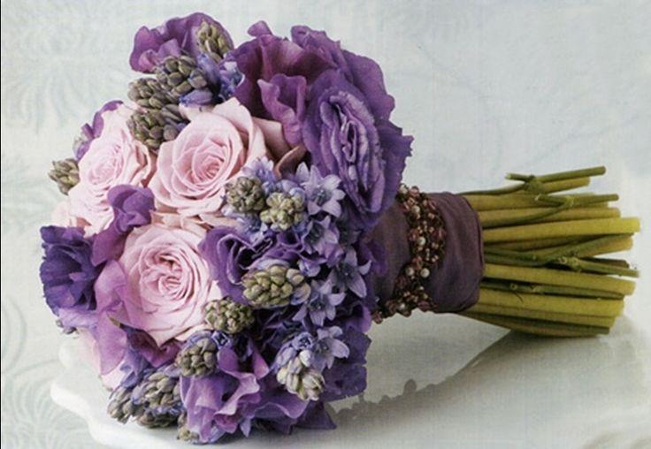 Ramo en tonos rosas y lilas