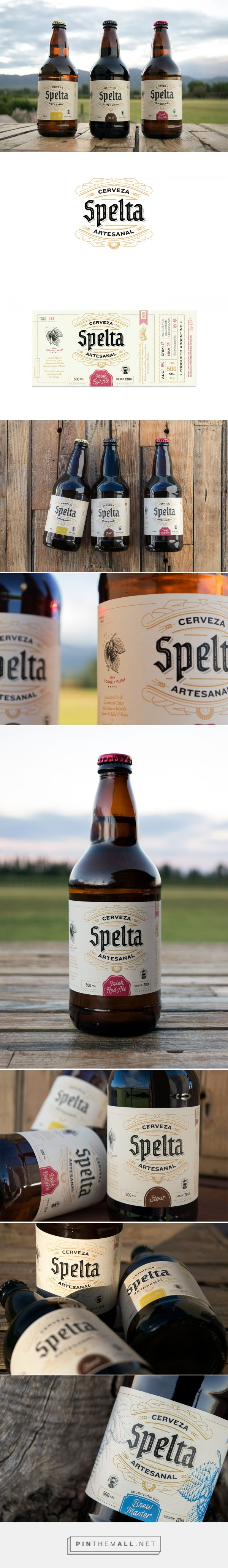 Spelta Craft Beer - Packaging of the World - Creative Package Design Gallery - http://www.packagingoftheworld.com/2017/05/spelta-craft-beer.html