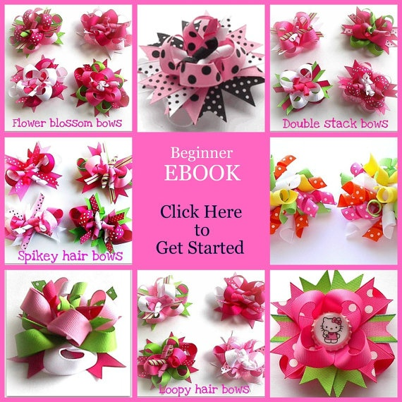 How to make Boutique Hair bows with Easy Make Bow method PDF EBOOK tutorial