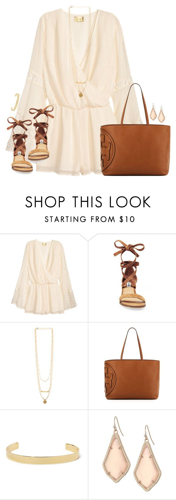 """""""Thursday's"""" by kaley-ii ❤ liked on Polyvore featuring H&M, Steve Madden, Tory Burch, Jennifer Fisher and Kendra Scott"""